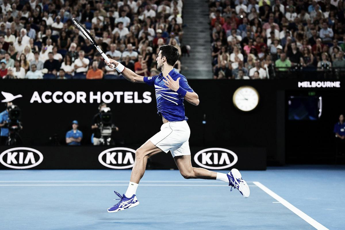 """Djokovic enaltece atuação de gala contra Pouille: """"Uma das minhas melhores nessa quadra"""""""