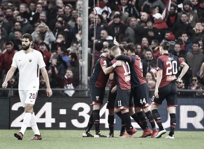 De Rossi acerta soco na cara do adversário, é expulso e Roma cede empate ao Genoa
