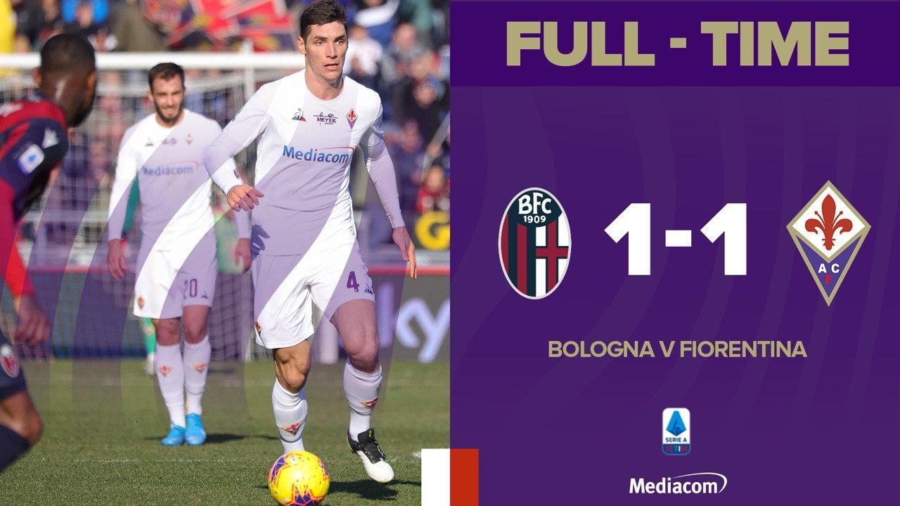 Pari tra Bologna e Fiorentina: a Benassi risponde Orsolini (1-1)