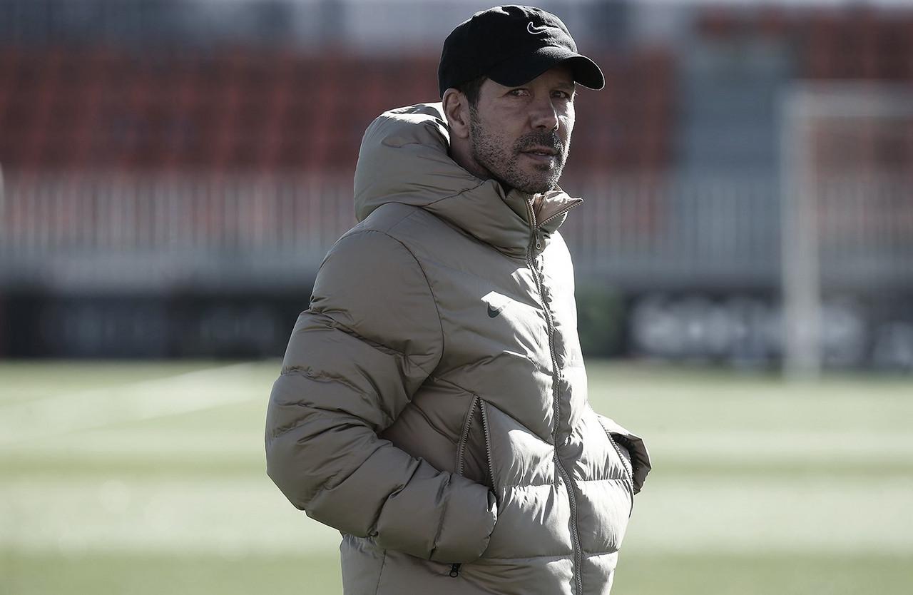 """Simeone: """"No tenemos otro pensamiento que partido a partido"""""""