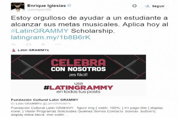 Enrique Iglesias lanza una beca para realizar estudios musicales