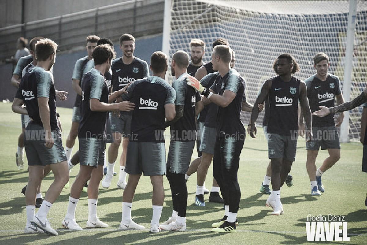 Última sesión antes de viajar a Valencia con seis canteranos