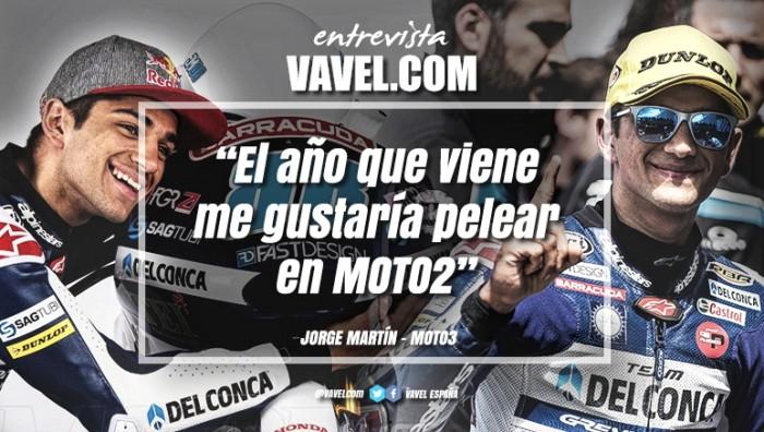 """Entrevista. Jorge Martín: """"El año que viene me gustaría pelear en Moto2"""""""