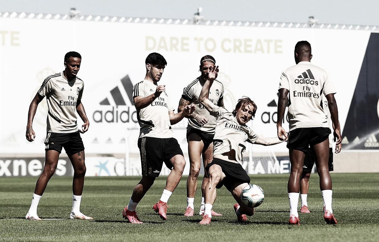 El Real Madrid finaliza los entrenamientos de esta semana