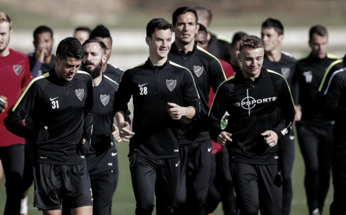 El Málaga vuelve al trabajo tras el partido contra el Real Madrid