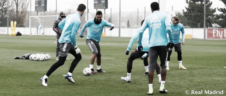 El Real Madrid se entrena de cara al partido contra el Athletic