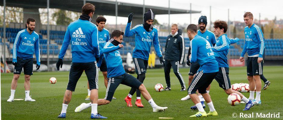 Última sesión de trabajo antes del partido Real Madrid CF - Sociedad Deportiva Eibar