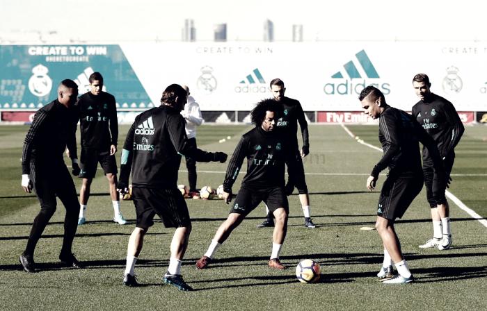 El Real Madrid ya está trabajando el partido frente al Sevilla