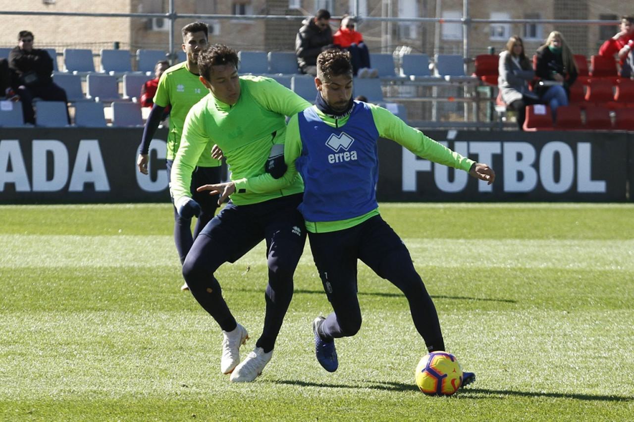 Tres entrenamientos para preparar el partido contra el Tenerife