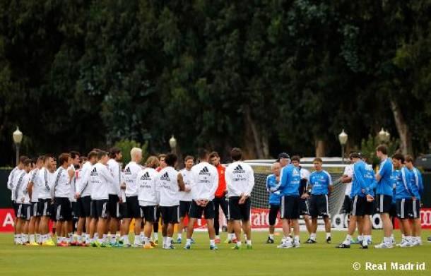 Último entrenamiento antes de medirse a Los Ángeles Galaxy