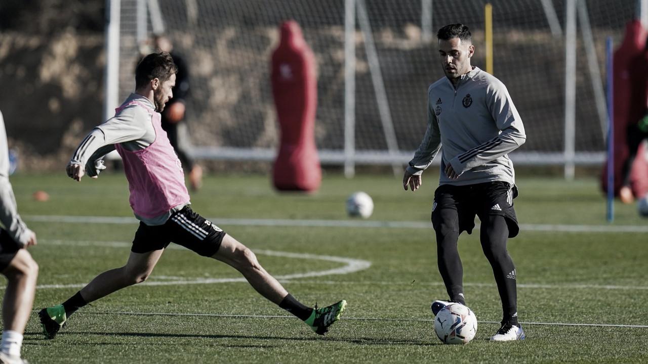 Entrenamiento previo al partido contra el Atlético de Madrid//FOTO: RealValladolid.es