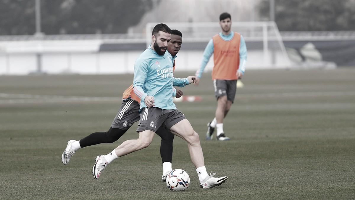 Carvajal vuelve a entrenar con normalidad. / FOTO: Real Madrid.