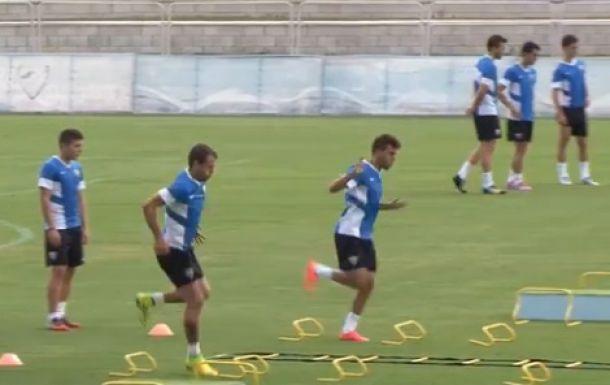 El Málaga volvió a los entrenamientos esta mañana