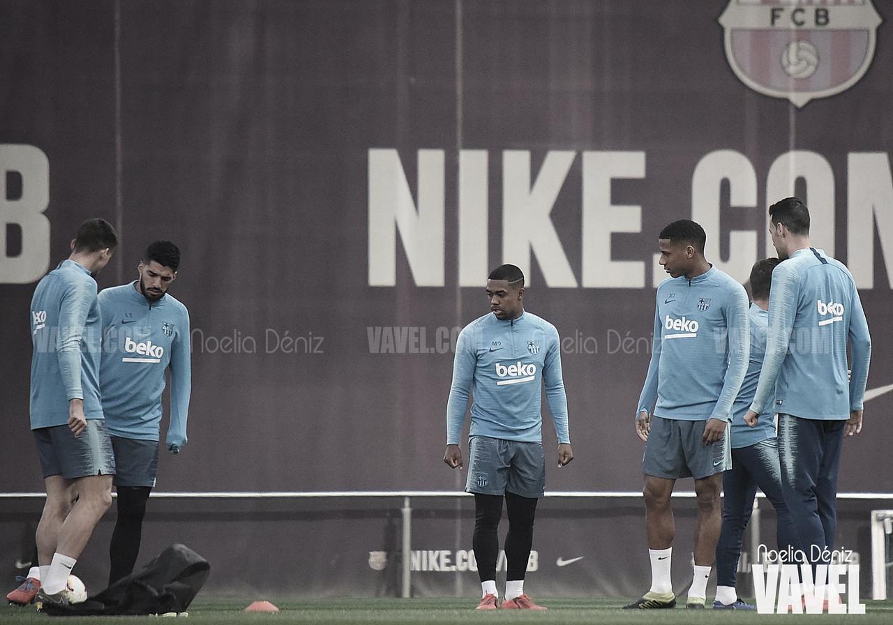 Último entrenamiento antes de recibir al Atlético de Madrid