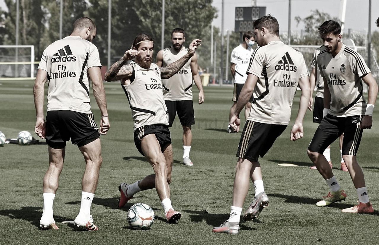 Mariano, ausente en el último entrenamiento previo al Granada