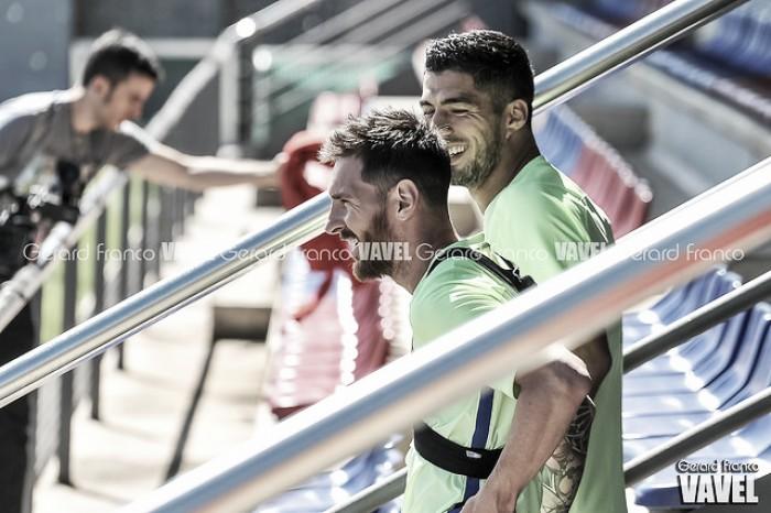 El Barça se entrena pensando en el Gamper