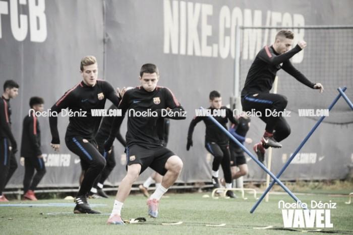 Último entreno del Barça B antes de medirse al Cádiz
