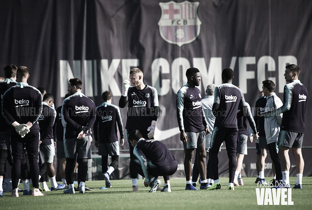 Entreno de recuperación para el FC Barcelona