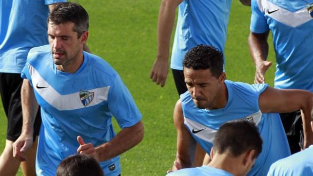 El Málaga prepara el choque ante el Celta