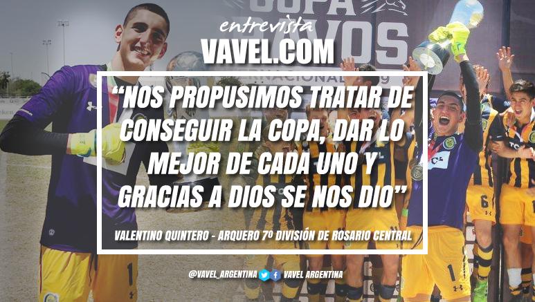 """Entrevista. Valentino Quintero: """"Todos los encuentros fueron duros, no hay que sacarle mérito a los rivales"""""""