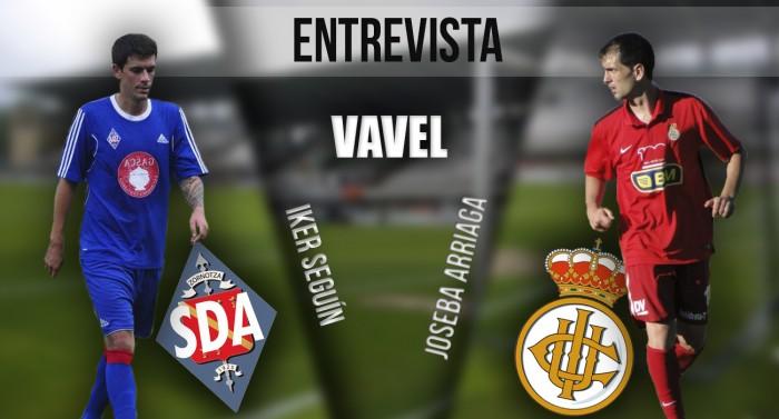 """Entrevista. Joseba Arriaga e Iker Seguín: """"Será un partido muy especial"""""""