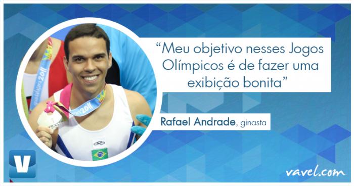 """Entrevista. Ginasta Rafael Andrade à VAVEL: """"Meu objetivo é fazer uma Olimpíada bonita"""""""