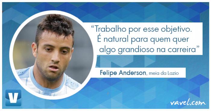 """Entrevista. Convocado, Felipe Anderson almeja ouro olímpico e seleção principal: """"Meu grande sonho"""""""