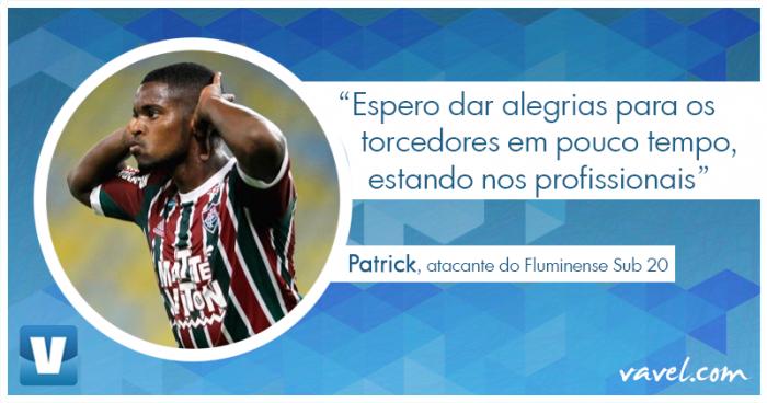 Entrevista. Aposta da nova 'safra' de Xerém, Patrick revela emoção com primeiro gol no Maracanã