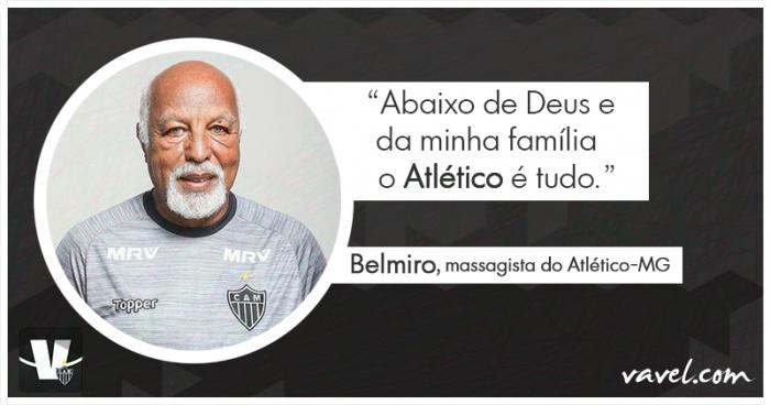 Protagonista fora das quatro linhas: conheça Belmiro, massagista do Atlético-MG