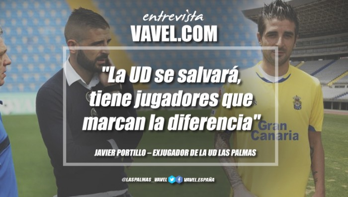 """Entrevista. Javier Portillo: """"La UD se salvará, tiene jugadores que marcan la diferencia"""""""