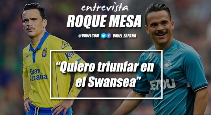 """Entrevista. Roque Mesa: """"El Swansea fue el único que apostó por mí este verano"""""""