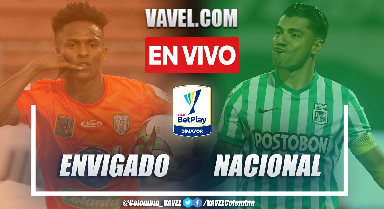 Resumen Envigado vs. Nacional (2-2) en la fecha 1 por Liga BetPlay 2021-II