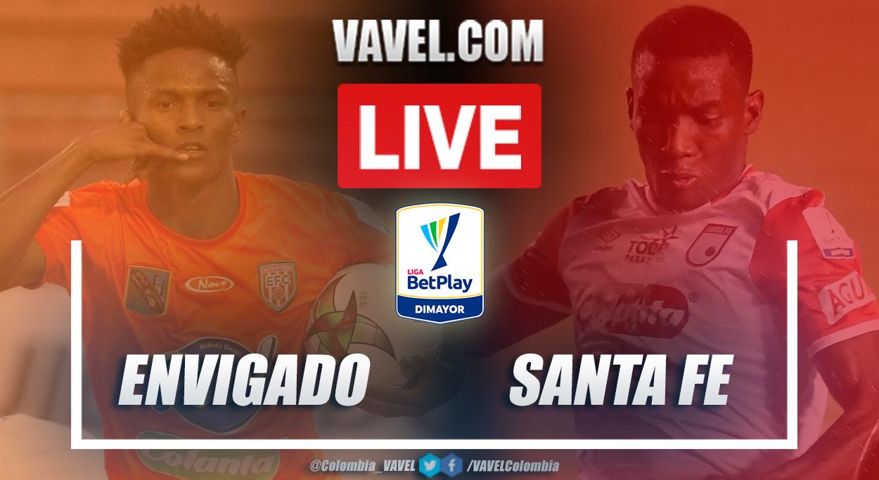 Resumen Envigado vs Santa Fe (2-1) en la fecha 13 por Liga BetPlay 2021-I