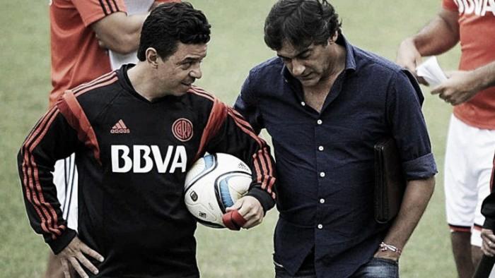 """Francescoli: """"Estoy muy contento con Gallardo, tiene un estilo pegado a la historia"""""""