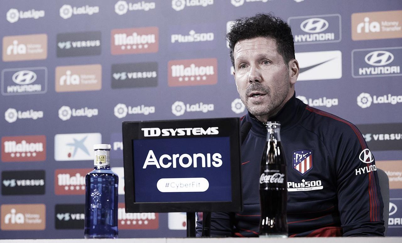 """Simeone: """"Esperamos poder llevar el partido donde queremos"""""""