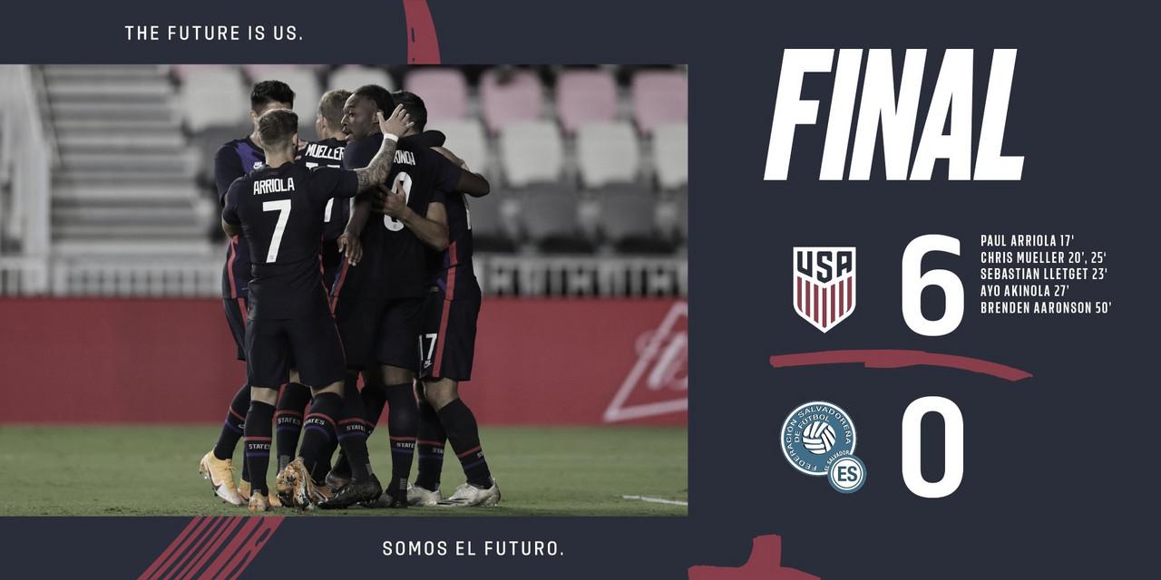 Estados Unidos 6-0 El Salvador: USMNT concluyó invicto el 2020