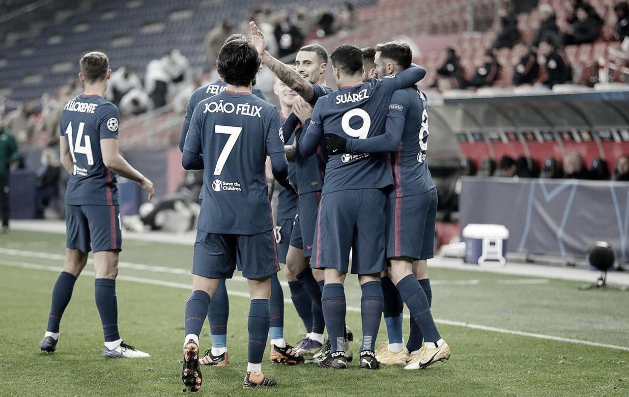 Carrasco lidera el pase a octavos de final de un Atlético de Madrid coral (0-2)