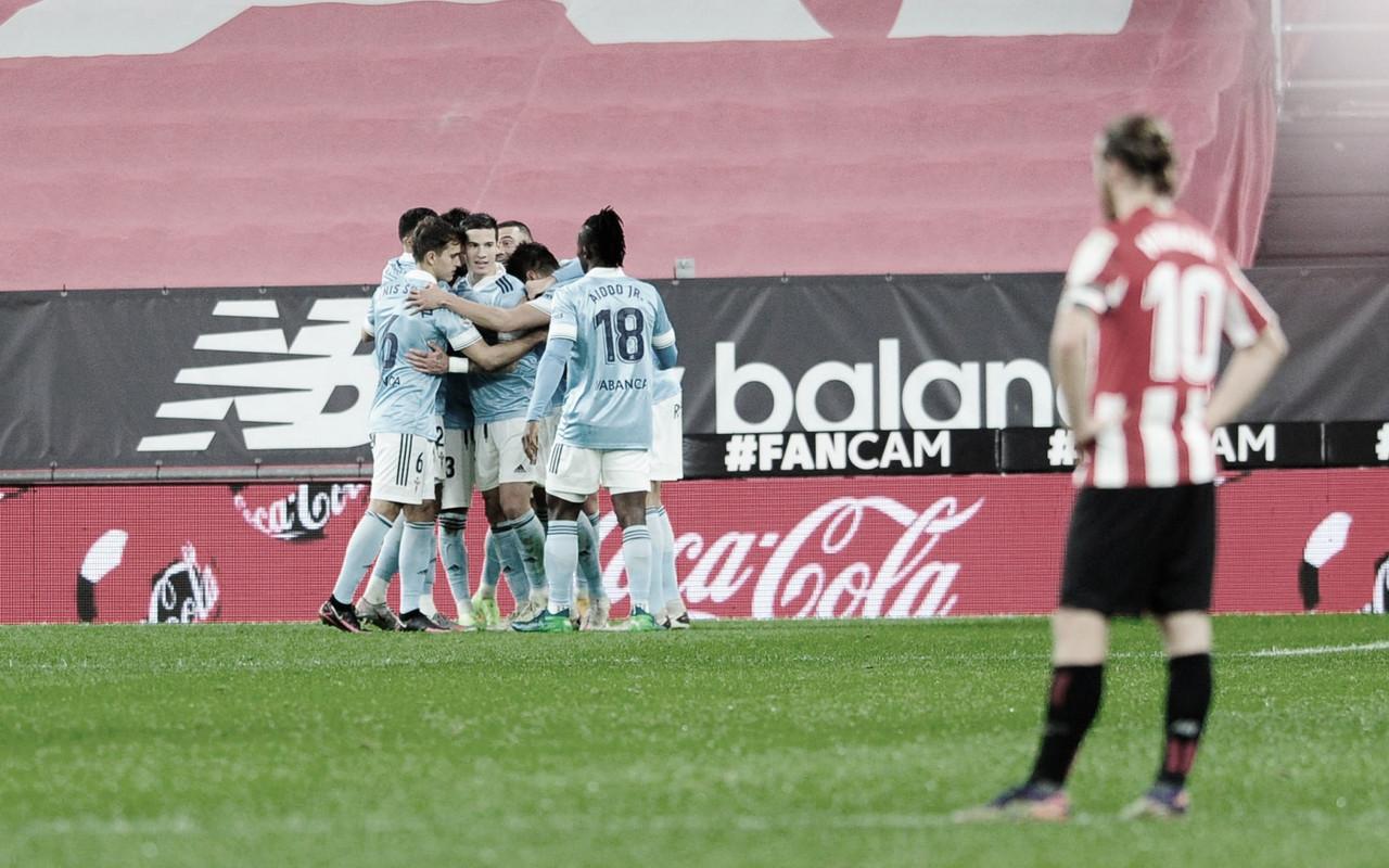 Los jugadores del Celta celebrando un gol. | Foto: La Liga.