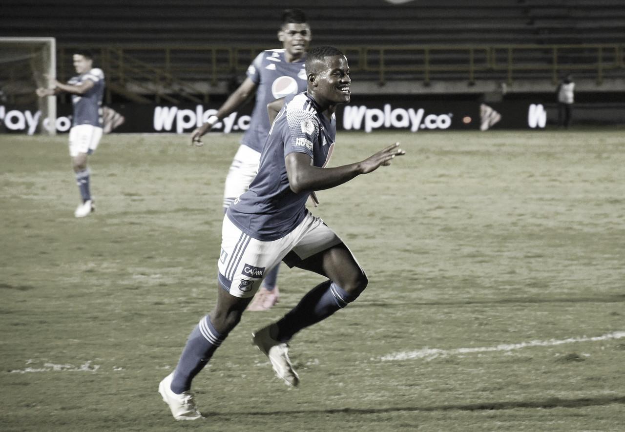 Andrés Felipe Román, jugador destacado de Millonarios ante Patriotas Boyacá