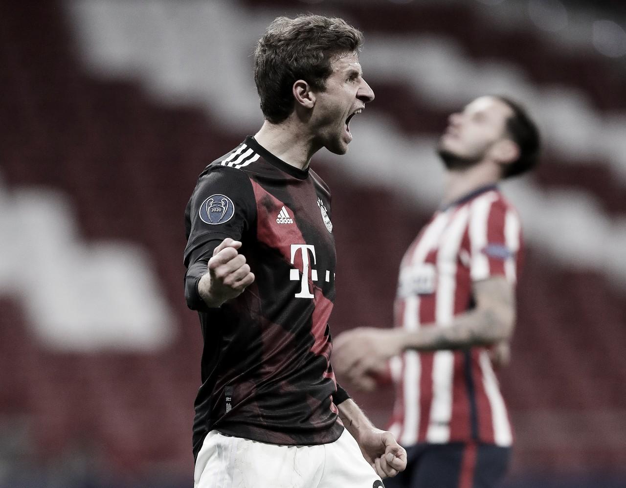 Müller celebrando el 1-1 / FOTO: UEFA