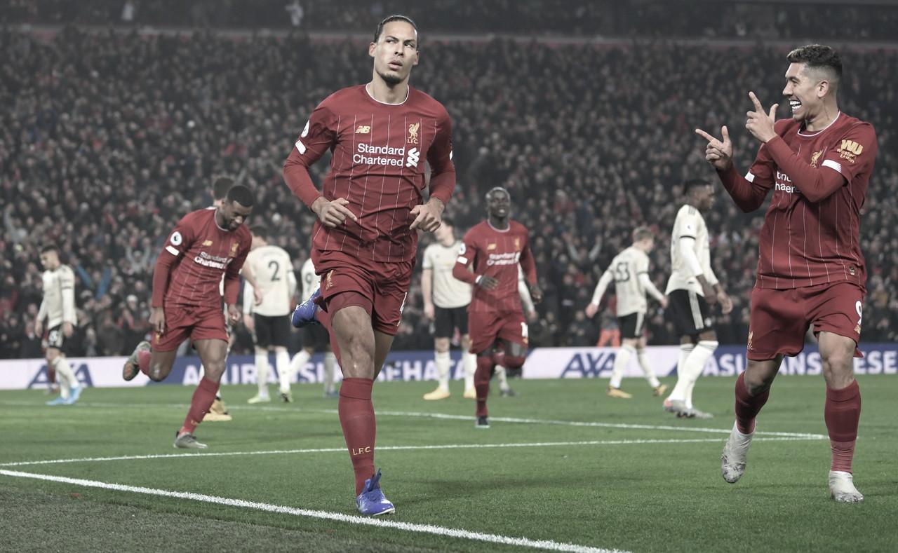 Alisson dá assistência, Liverpool vence United e acumula 13 vitórias seguidas na Premier League