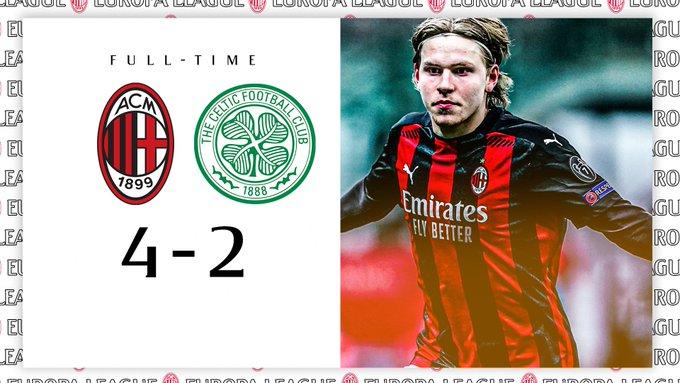 Europa League - Il Milan vince in rimonta: battuto il Celtic per 4-2
