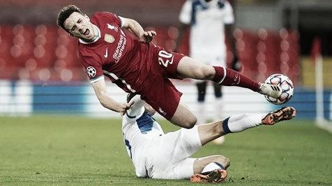 Diogo Jota sofre lesão e desfalca Liverpool por cerca de dois meses