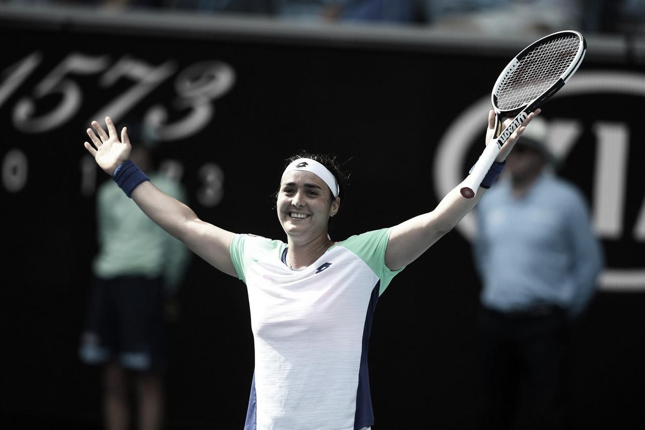 Jabeur faz história, derrota Wang e vai às quartas de final do Australian Open