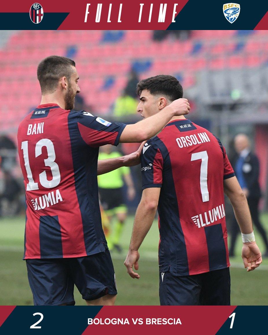 Il Bologna vince nel finale: Bani regala i tre punti ai suoi (2-1)