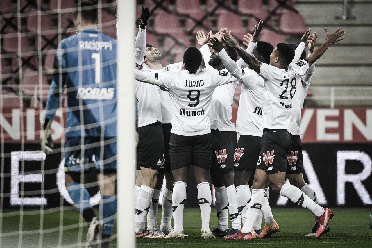 Lille tem atuação dominante, bate Dijon com facilidade e segue no topo da Ligue 1