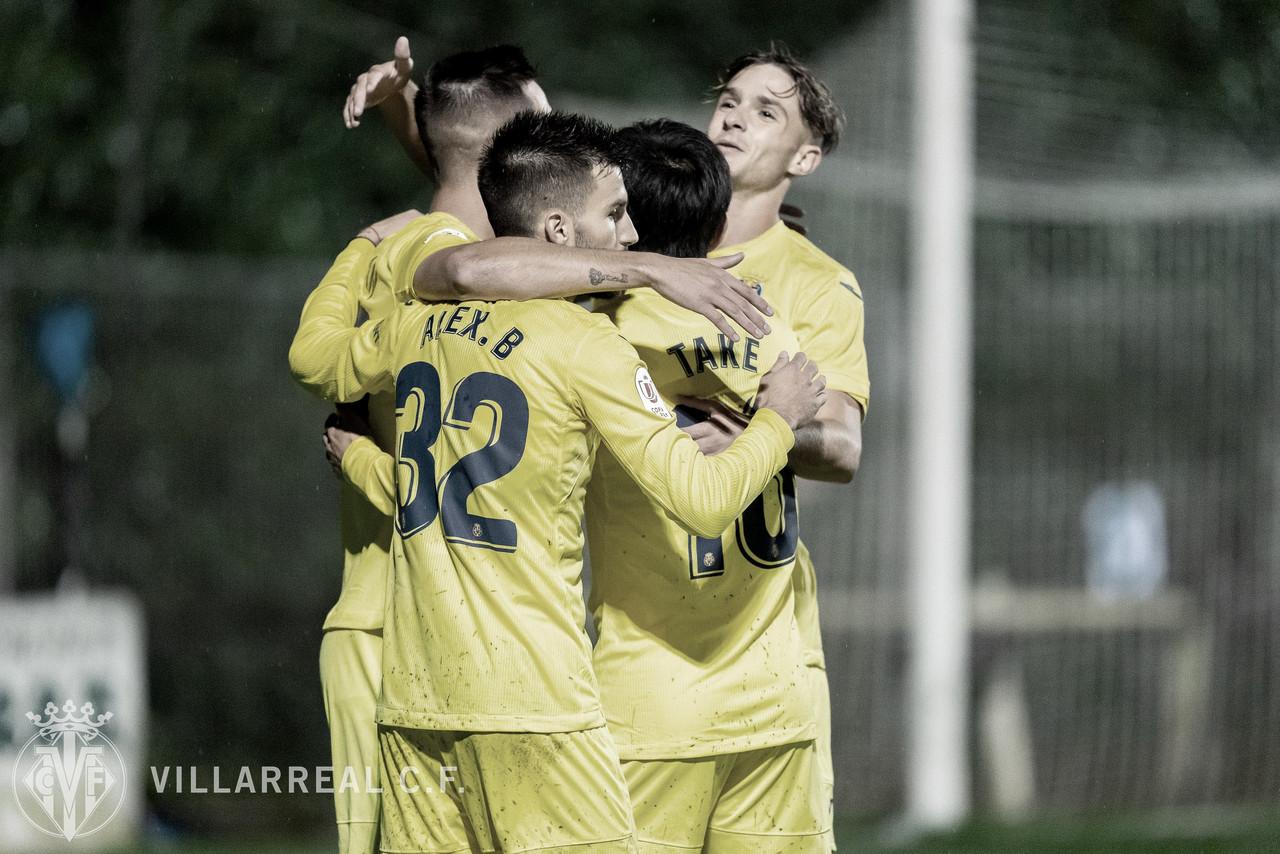 Los jugadores celebrando un gol ante el Leioa/ Fuente: Villarreal C.F.
