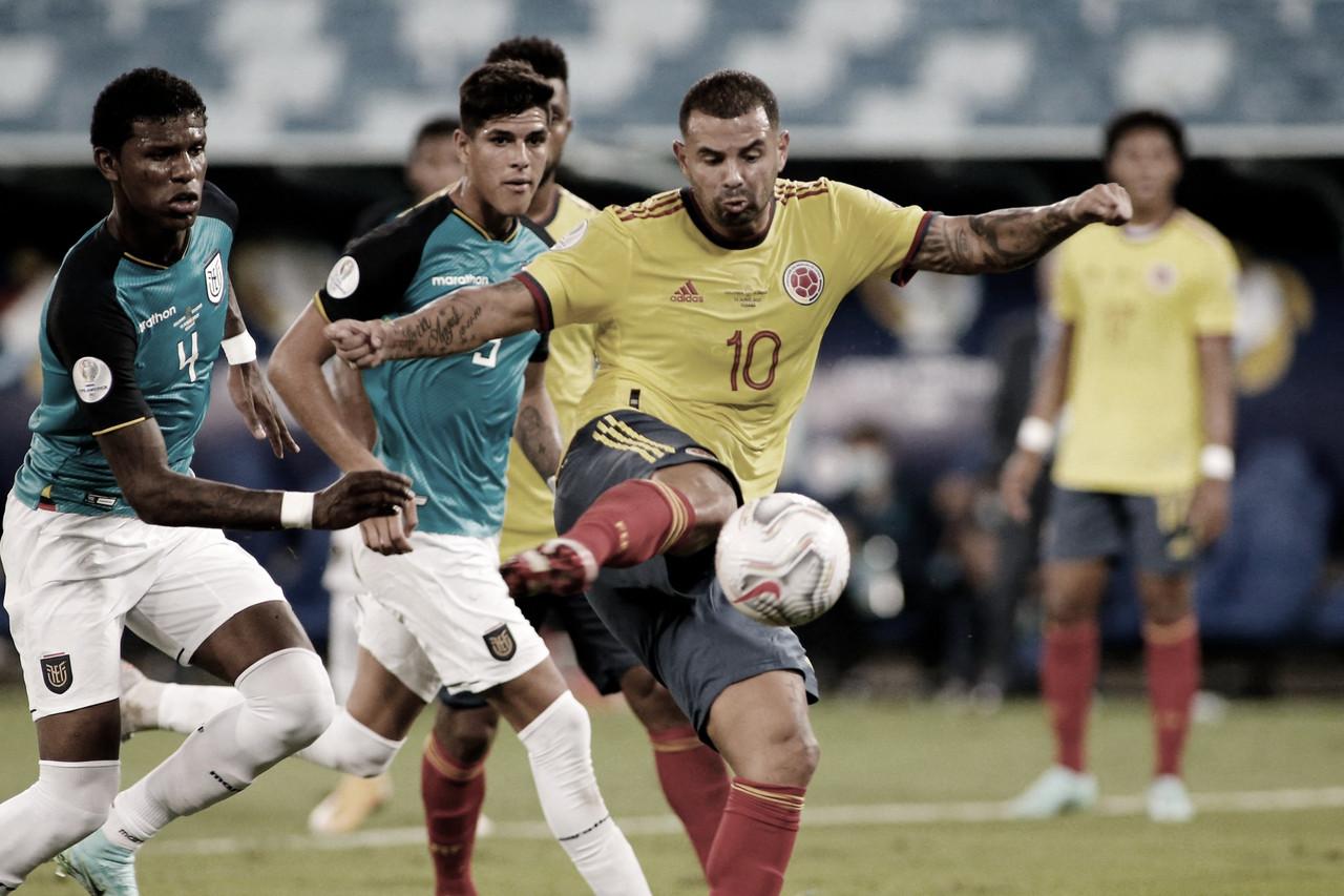 Cardona marca, e Colômbia bate Equador na estreia da Copa América 2021