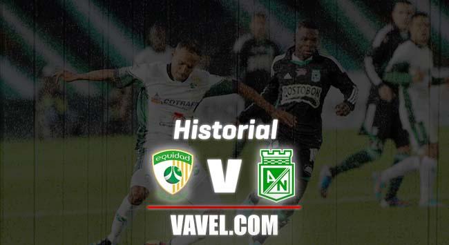 Historial La Equidad vs Atlético Nacional: duelo igualado
