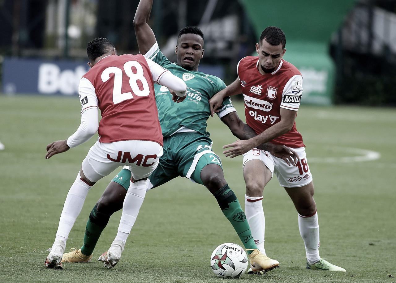 La Equidad finalizó la fase regular de la Liga 2021-I con derrota ante Santa Fe